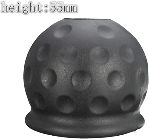 Towbar Towball Soft Plastic Cap Cover Black Tow Ball Protect Car Tow-ball Towing