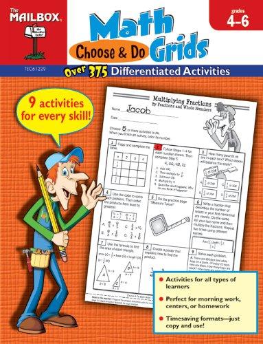 Book Choose & Do Math Grids Intermediate Grades 4-6 Pdf Epub