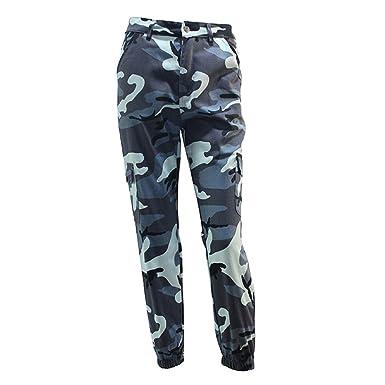 6b17e586a6d9 Women Fashion Casual Hosen Camo Pants Printed Jogger Sport Outdoor Loose  Premium Qualität Damen Hosen Gelb
