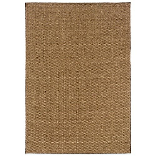 Oriental Weavers Santiago Indoor/Outdoor Rugs in Brown, Non-reversible (2'5'' x 3'9'') by Generic
