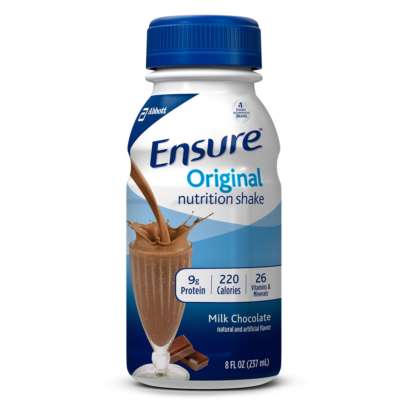 Ensure Original Nutrition Shake with 9 grams of protein, Meal Replacement Shakes, Milk Chocolate, 8 fl oz, 24 Count by Ensure Original