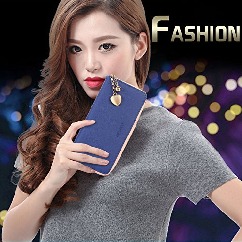 ladies bag Korean Large wallet New zipper phone wallet 4 cow Long capacity hit leather version Mobile color IgwzCqS