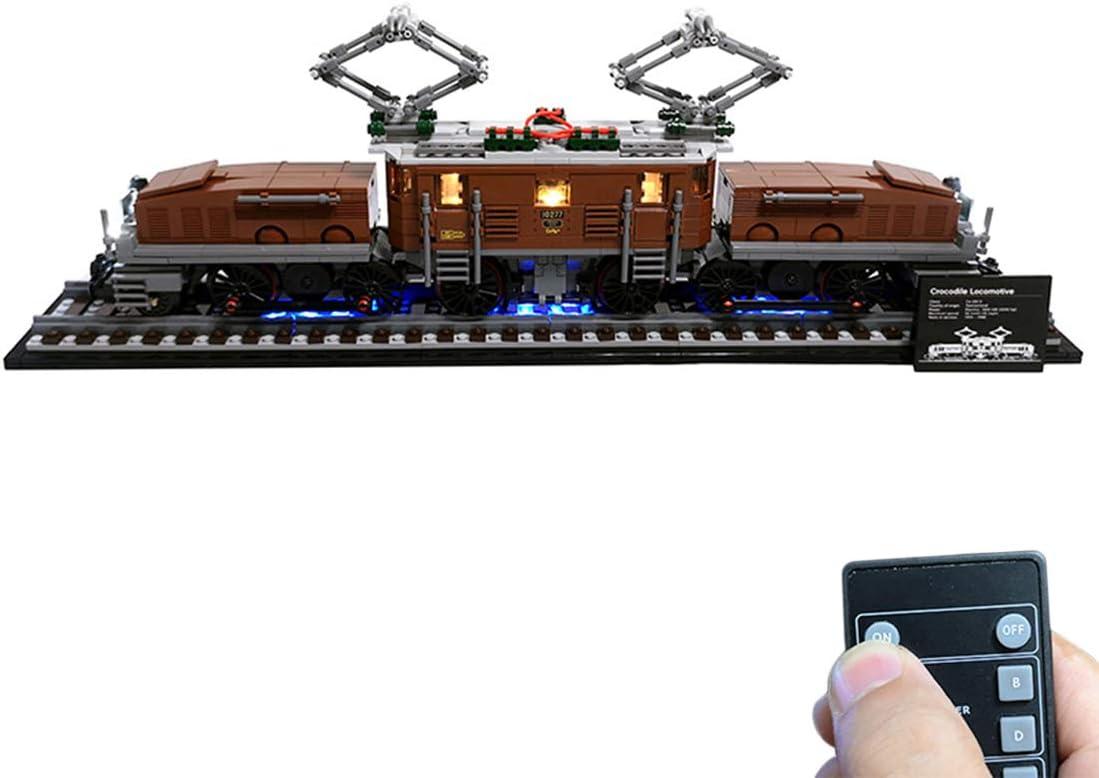 HYMAN Kit di illuminazione a LED Decorazione per Locomotiva a coccodrillo Modello Lego non incluso Compatibile con Lego 10277 - Versione classica