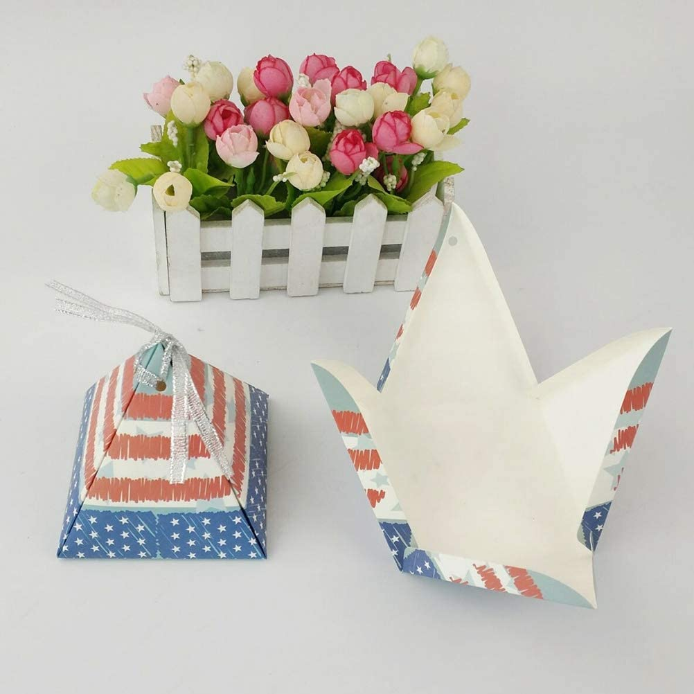 BinaryABC American Flag Candy Boxes Gift Box,4th of July Patriotic Party Favors Box,Fourth of July Independence Day Party Decorations Supplies,15Pcs