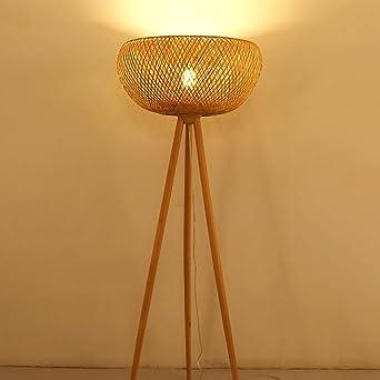 Irgendeine Heimatlampe Bambus Rattan Stehleuchte Study Schlafzimmer
