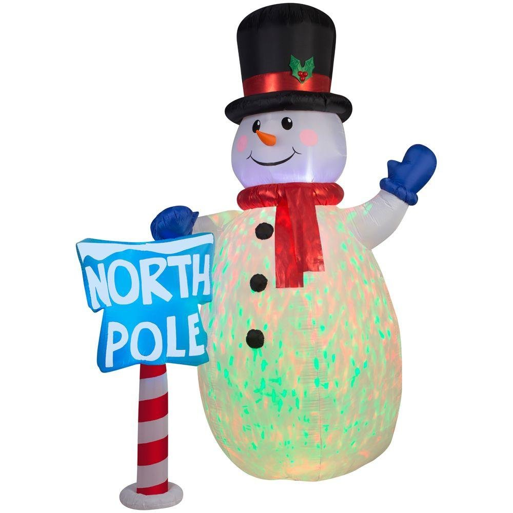 Inflatable 10 ft. Kaleidoscope Snowman by Home Accents Holiday