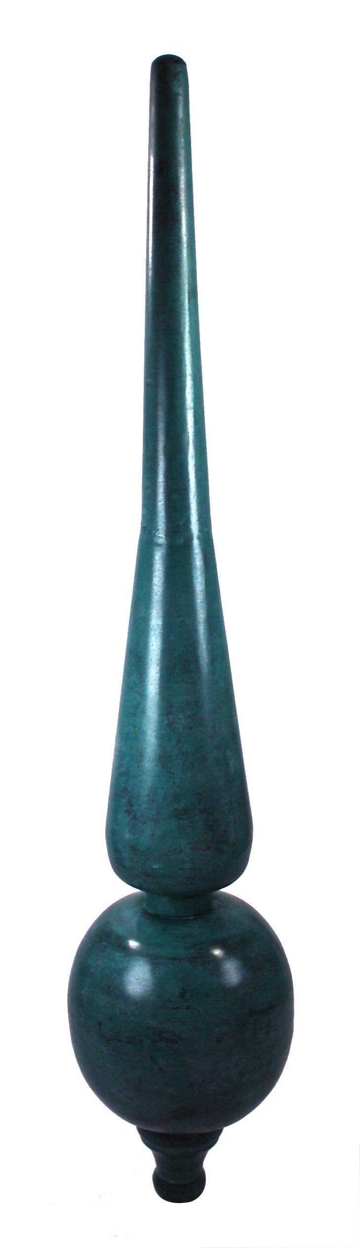 Dalvento Medium Roman Finial- Verdigris by Dalvento