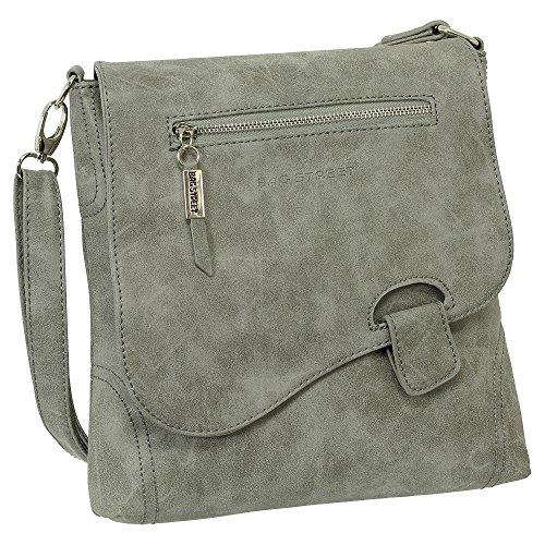 Ledershop24 , Sac pour femme à porter à l'épaule gris