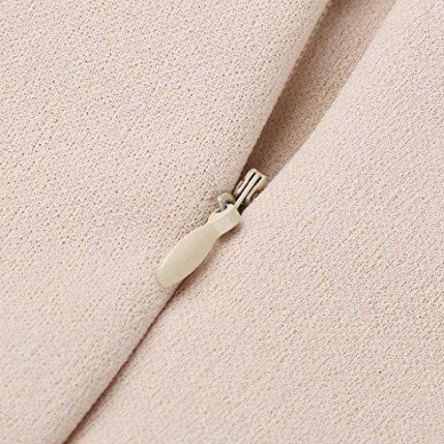Casual Pieghettato larghi Bretelle Beige Tuta Pantaloni Vita alta Pure Color Donna Adeshop 8zxqt6I8