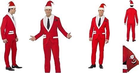 Fancy Dress World Disfraz de Papá Noel para Adulto con Camisa y ...