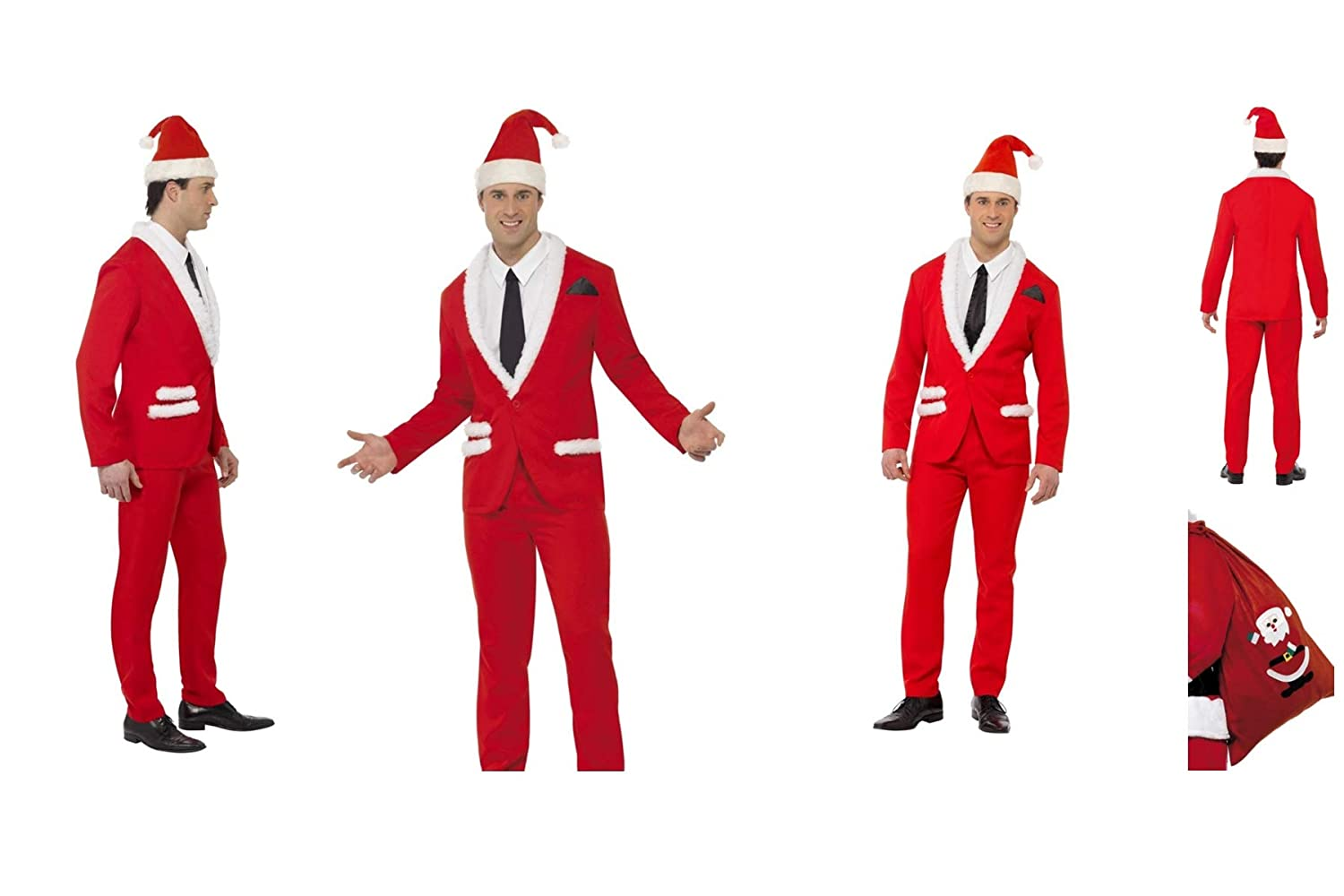 Fancy Dress World Disfraz de Papá Noel para Adulto con Camisa y ...