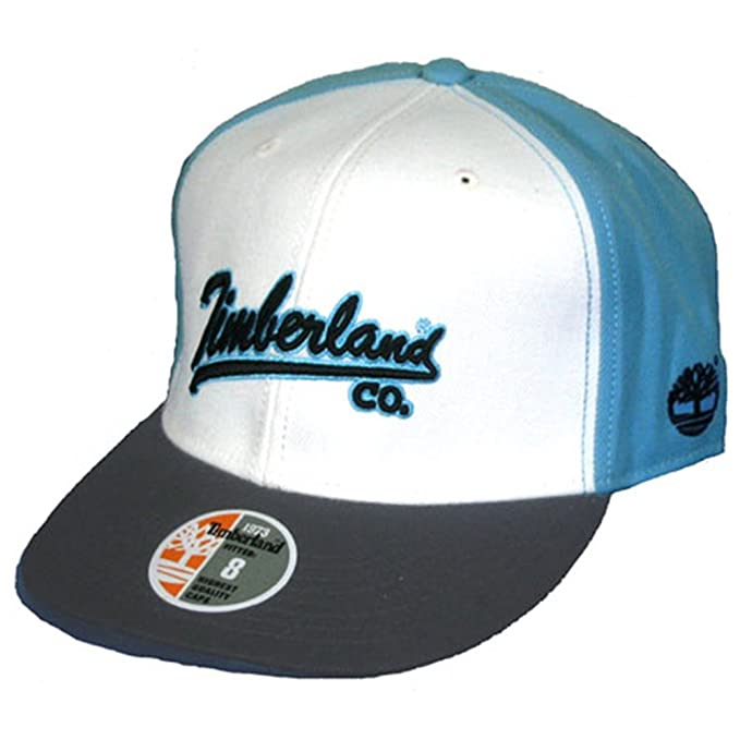 6d323123 Timberland Unisex Cap TBL Script Brooklyn Fitted 7 3/4 Off White/Blue/