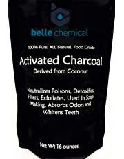 Coconut Activated Charcoal Powder - Food Grade - Bulk - Teeth Whitening, Facial Scrub, Soap Making (1 Pound)