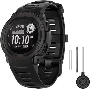 QGHXO Band for Garmin Instinct, Soft Silicone Replacement Watch Band Strap for Garmin Instinct GPS Smart Watch (No Tracker)
