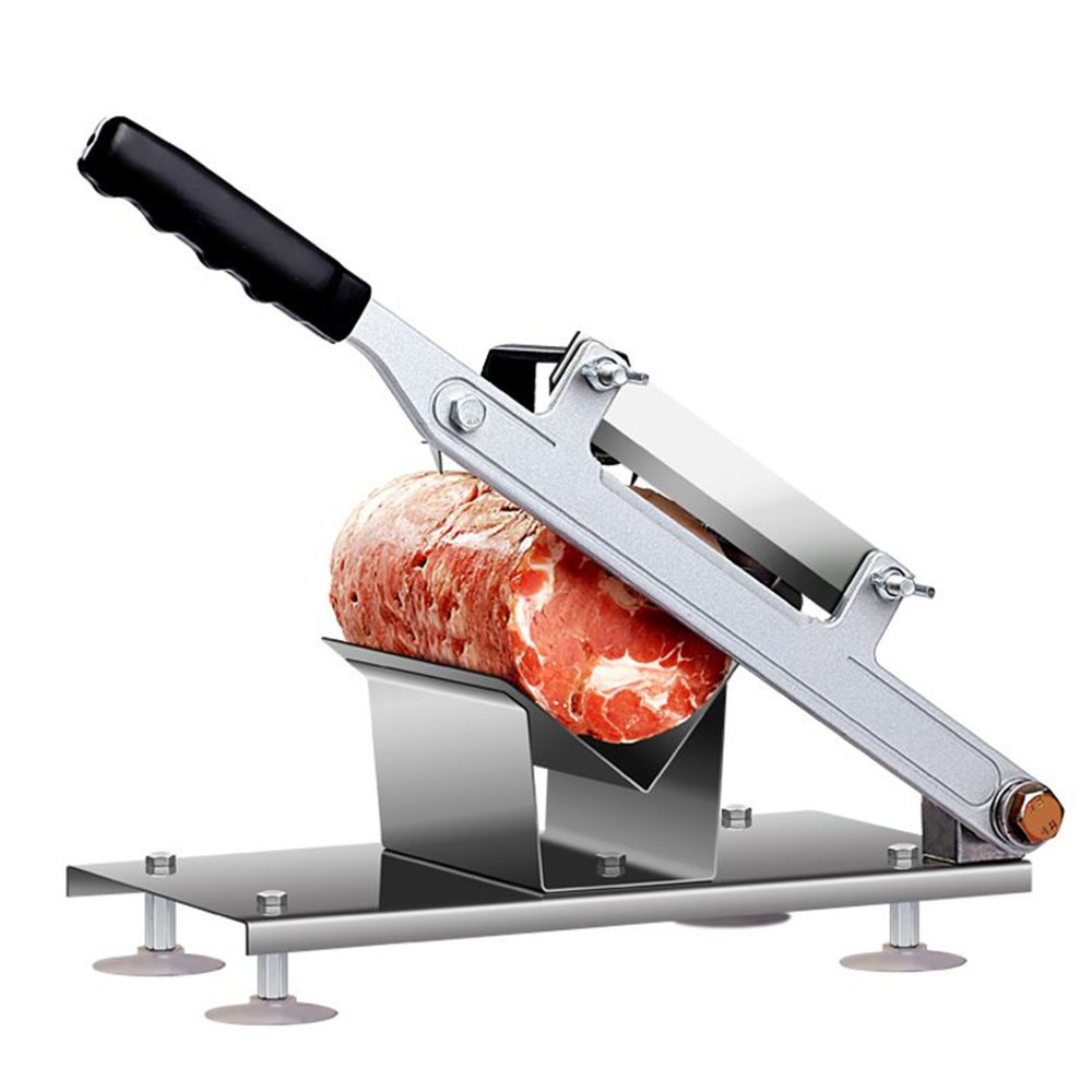 HUKOER Lamb slicing machine manual meat cutting machine commercial household mutton fat beef meat frozen meat planing machine