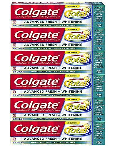 Colgate Total Advanced Fresh Whitening Gel Toothpaste, 5.8-Ounce (Pack of 6) (Colgate Total Advanced Whitening)