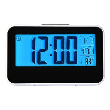 Hevoiok Smart Uhr LED Digital Fashion LED Snooze Wecker Kalender Temperatur  Home Küche Büro Schlafzimmer Leise