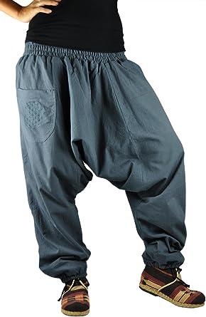 virblatt Pantalones cagados con patrón Reversible con Entrepierna ...