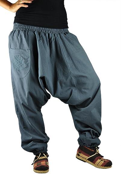 virblatt Pantalones cagados con patrón Reversible con Entrepierna Mediana Profunda Talla única Unisex S - L