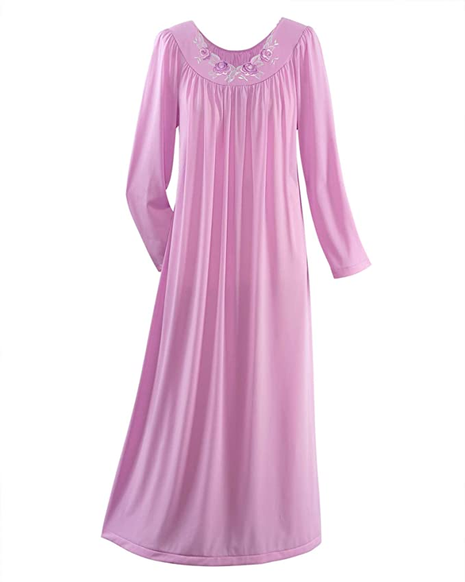 Shadowline Women\'s Petals 53 Inch Long Sleeve Long Gown at Amazon ...