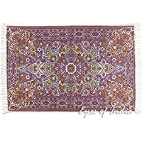 Eyes of India - 4 X 6 ft Purple Persian Indian Oriental Print Printed Area Accent Rug Carpet Antique Classical