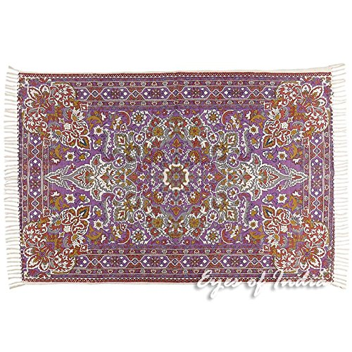 - Eyes of India - 4 X 6 ft Purple Persian Indian Oriental Print Printed Area Accent Rug Carpet Antique Classical