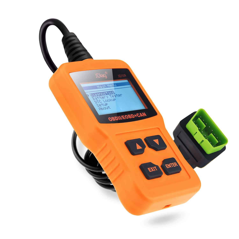 JDIAG Car Code Reader Engine Scan Tool Universal OBD2 Scanner JD109 Suitable OBD II Protocol/Standard 16-pin OBD-II for EOBD/CAN Vehicles