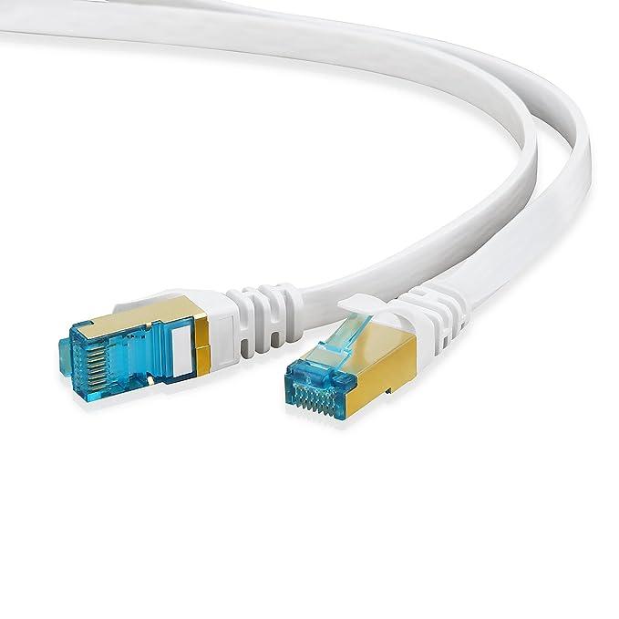 42 opinioni per HUANGTAOLI Cat 7 Cavo di Rete 1m, Cavo Ethernet Gigabit Lan con Connettori RJ45