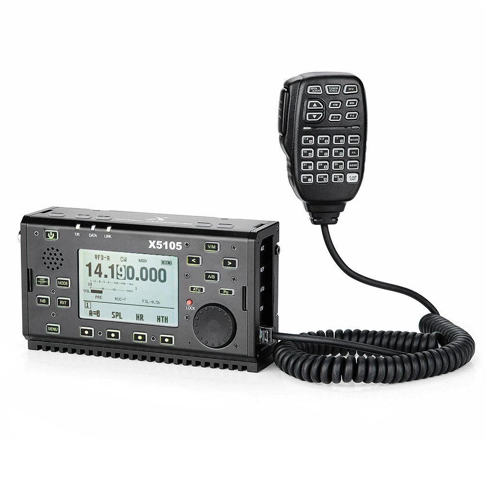 XIEGU X5105 Portable HF Transceiver OUTDOOR VERSION, 500kHz-30MHz 50MHz-54MHz 5W 3800mAh, with IF Output, SSB/CW/AM/FM/RTTY/PSK-Lightwish