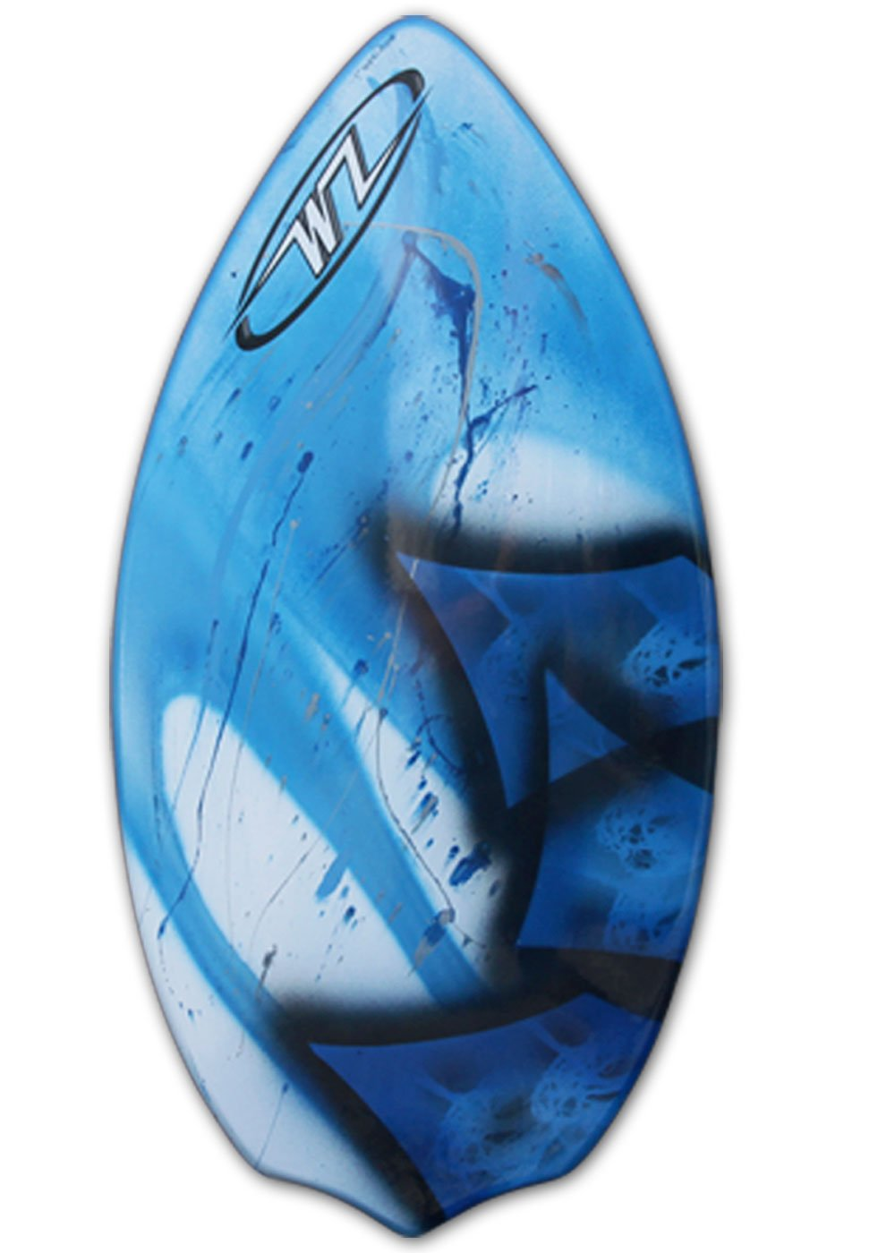Wave Zone Diamond - Fiberglass Skimboard for Beginners - Blue