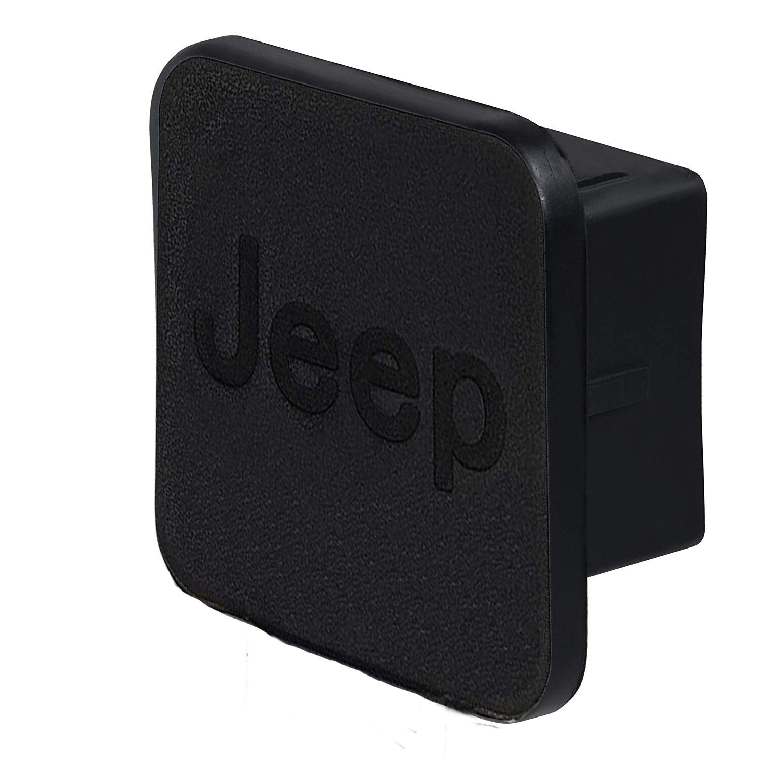 Car Trailer Hitch Cover,with Jeep Logo for Jeep Accessories Receiver Tube Hitch Plug(Black) (for Jeep) by BoJie Car