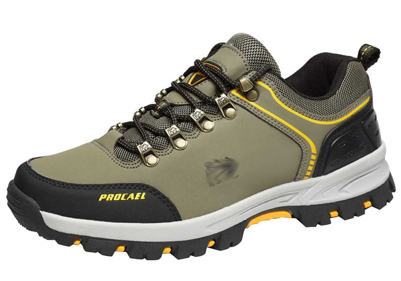 HhGold Männer Wanderschuhe Stiefel Leder Wanderschuhe Turnschuhe Für Outdoor Trekking Training Beiläufige Arbeit (Farbe : 20, Größe : 42EU)