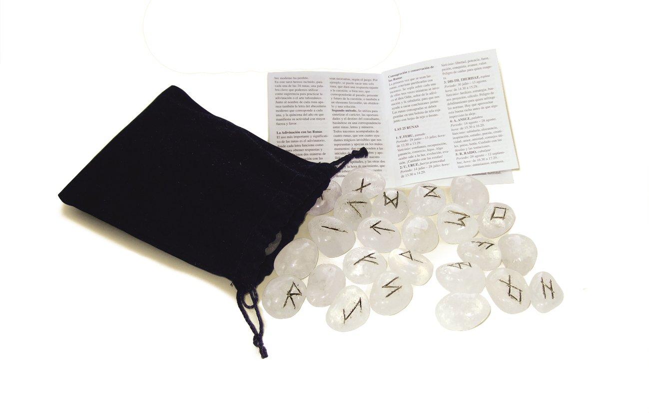 Runen Glasopal. 25 Runensteine