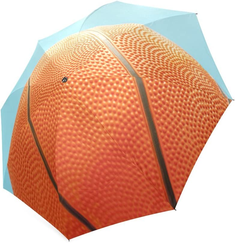 Easters Day Gift Basketball Compact Foldable Rainproof Windproof Travel Umbrella