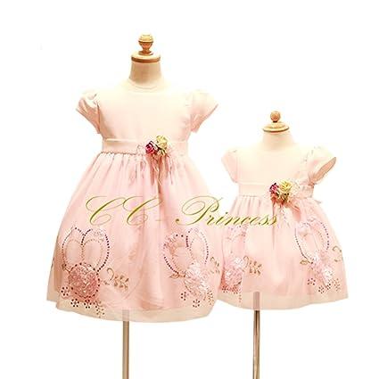 aece938f7e643 CC-Princess 70 スパンコールとフラワーモチーフのドレス (BB-030) ベビー