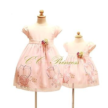 982952481ab66 CC-Princess 80 スパンコールとフラワーモチーフのドレス (BB-030) ベビー