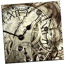 Portfolio Canvas Decor Vintage Clock by GI Artlab Wrapped/Stretched Canvas Wall Art, 24 x 24
