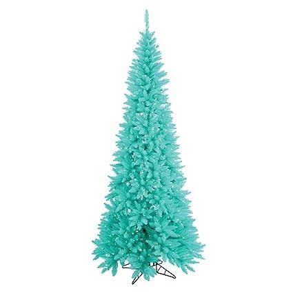 vickerman 65 aqua slim fir artificial christmas tree with artificial christmas tree with 400 aqua - Aqua Christmas Tree