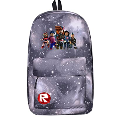 4539dc28f211 SP Kids Schoolbag Backpack with Roblox Students Bookbag Handbags Travelbag  (rb-grey sky)