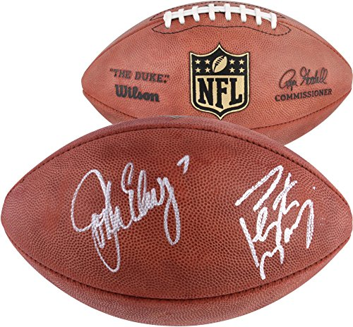 Autographed Denver Pro Broncos Football (Peyton Manning & John Elway Denver Broncos Autographed Duke Pro Football - Fanatics Authentic Certified)