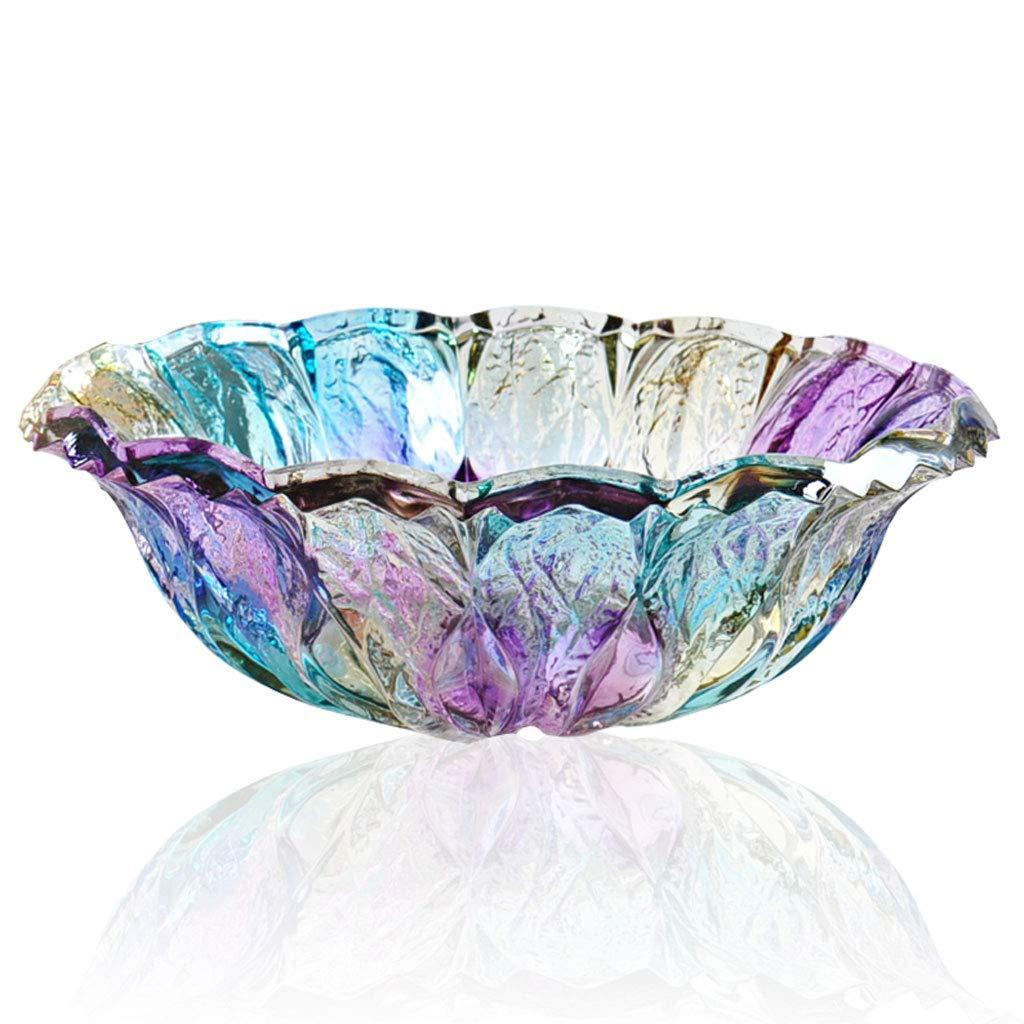 HY ヨーロッパのガラスフルーツボウルリビングルームコーヒーテーブル乾燥フルーツプレートクリエイティブウェディングギフトフルーツプレート (色 : A)  A B07JVXXGFT
