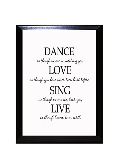 Dance Love Sing Live Wall Plaque Sign 5 In X 7