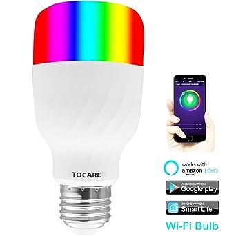 WiFi Smart LED luz bombillas compatible con Alexa y Google auxiliar no Hub mando a distancia