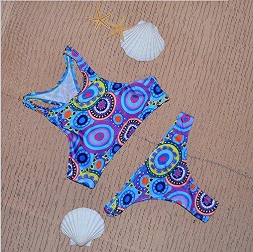 BUSL La mezcla de las mujeres atractivas del traje de baño partido del bikini de triángulo traje de baño