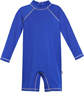 product image for City Threads Boys' Sun Suit SPF50+ Protection Rash Guard One Romper Piece Made in USA