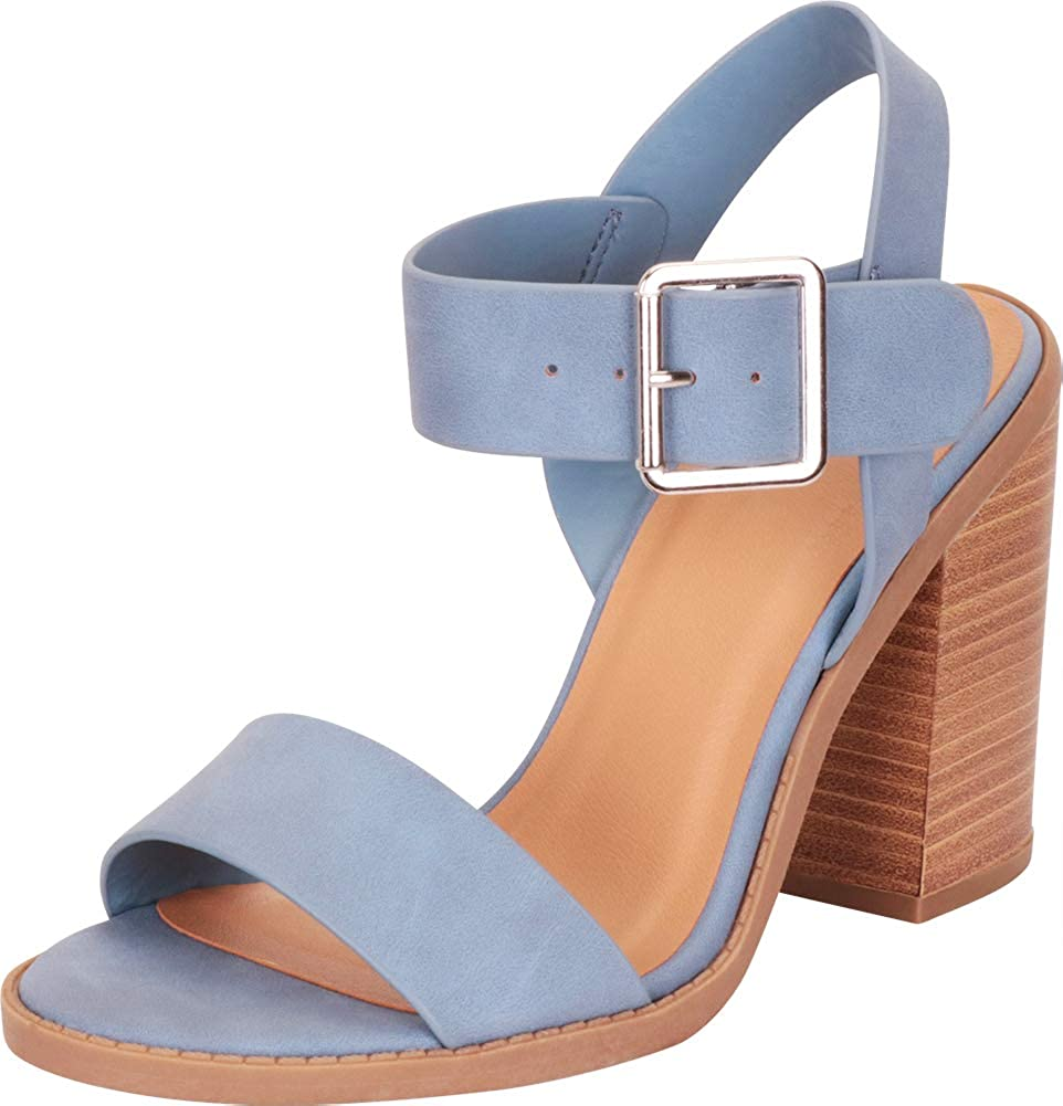 a8432a460fa Amazon.com  Cambridge Select Women s Open Toe Slingback Chunky Stacked  Block Heel Sandal  Shoes
