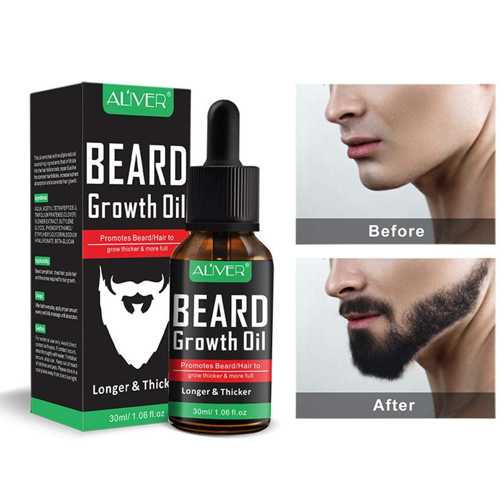 Beard Growth oil for Men, Kobwa Natural Unscented Beard Growth oil for Fuller and thicker barba – Best Organic Mustache balsamo ammorbidente