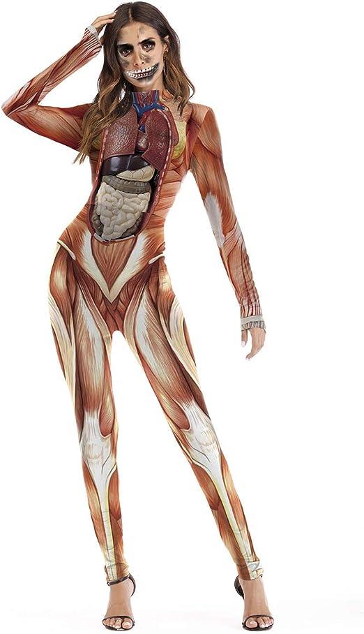 FHTD Disfraz 3D para Mujer Estructura del Cuerpo Humano de ...