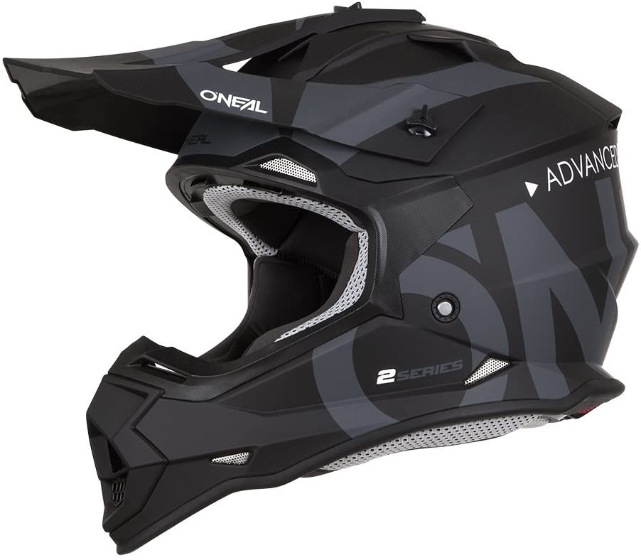 O/'Neal Unisex-Adult Off Road 2SERIES Helmet SLICK Black//Gray Medium