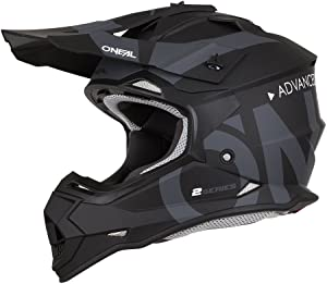 O'Neal 2Series Adult Helmet, Slick (Black/Gray, XL)